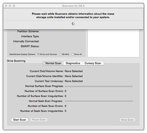 Drive loading drop           down dialog